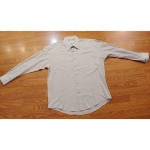 Yves St Laurent Men shirt LARGE Size 16  32/33